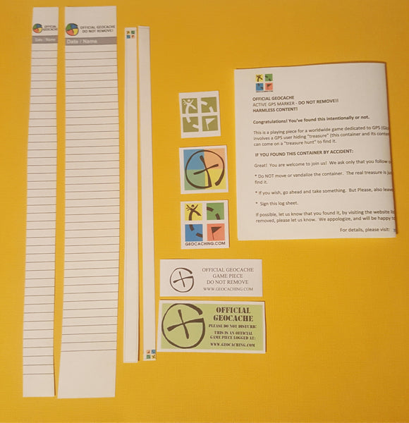GEOCACHING Log Books, Additional Logbooks, Replacement Logs for your GEOCACHE, Half Sheets, Nano, 35MM  Replacement, FREE Shipping