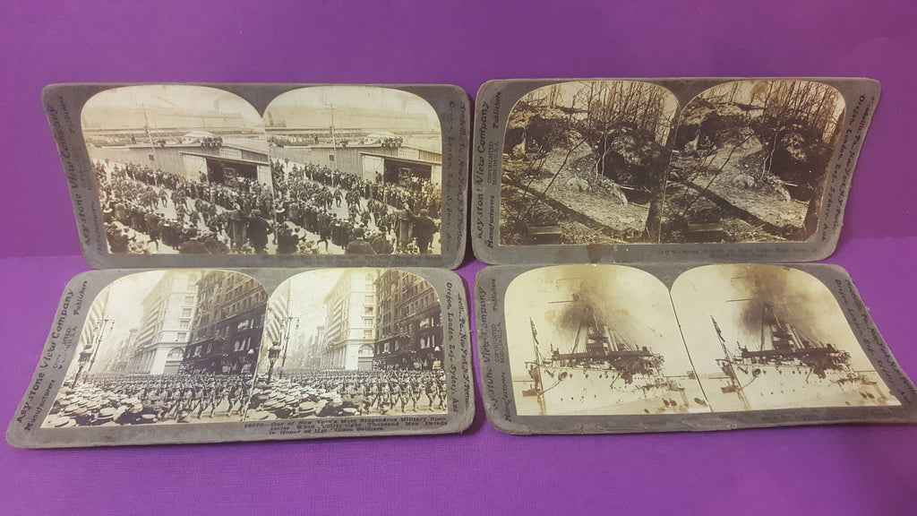 4 Photograph, Stereoscope Viewer, Picture Viewer, Keystone View Company, Belleau Woods France, New York,