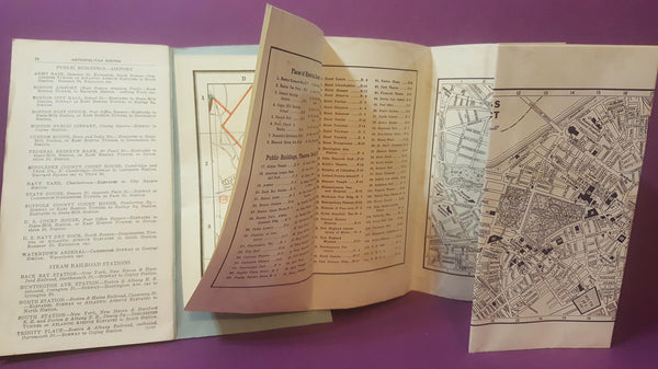Cram's New Indexed Street Map of the Boston Area, the Geo F Cram Co, Vintage Map of Boston, Massachusetts, FREE Shipping