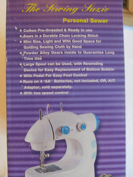 the Sewing Suzie, comes Ready to USE!! NEW! lightweight, alloy gears, rewinding, foot pedal, Sewing Machine