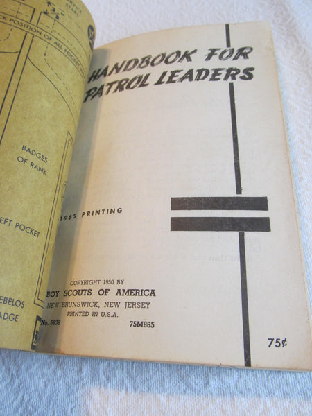 Boy Scouts of America, Patrol Leader Handbook, Guide book, vintage 1950s, BSOA, Free Shipping