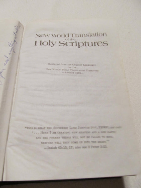 New World Translation of the Holy Scriptures, 1980s, Holy Bible, Books with Character, Vintage Bibles, FREE Shipping