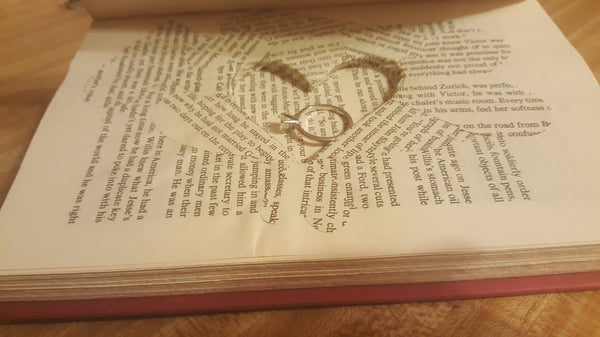 With this Ring, Wedding Proposal, book proposal, geeky, hide the ring, vintage book, repurposed, upcycled, book hiddie, hidden spot, sneaky