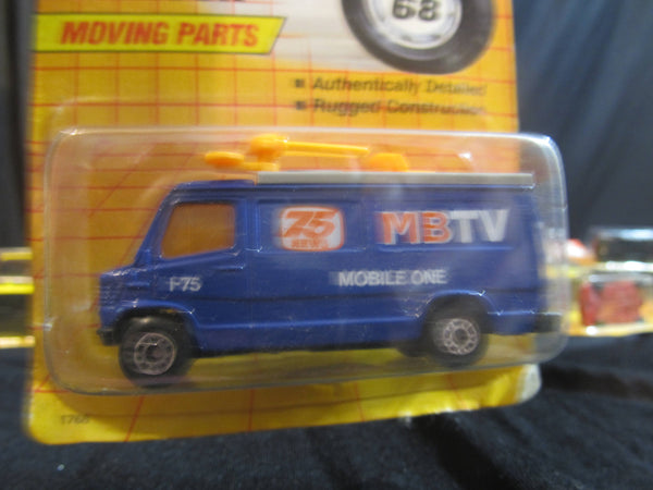 TV News Truck, MB 68, Moving Parts! Matchbox Cars, Trucks, Vehicles, Diecast Cars, Car Models, FREE Shipping