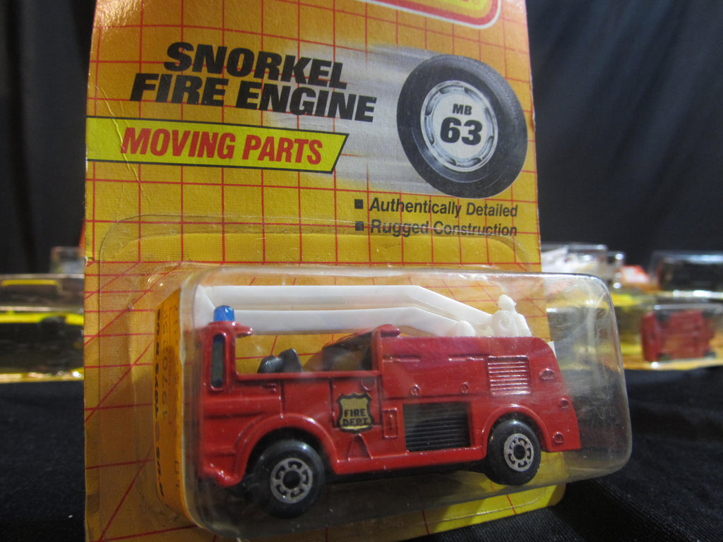Snorkel Fire Engine, MB 63, Red FireTruck, Matchbox Cars, Trucks, Vehicles, Diecast Cars, Car Models, FREE Shipping