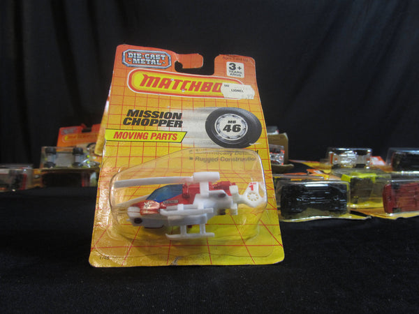 Mission Chopper, MB46, Moving Parts, Matchbox Cars, Trucks, Vehicles, Diecast Cars, Car Models, Copter Pilots, FREE Shipping