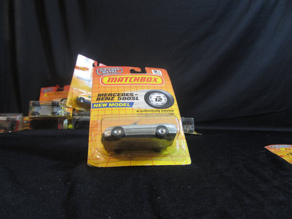 Mercedes Benz 500SL, MB 12, new model, silver convertible, Matchbox Cars, Trucks, Vehicles, Diecast Cars, Car Models, FREE Shipping