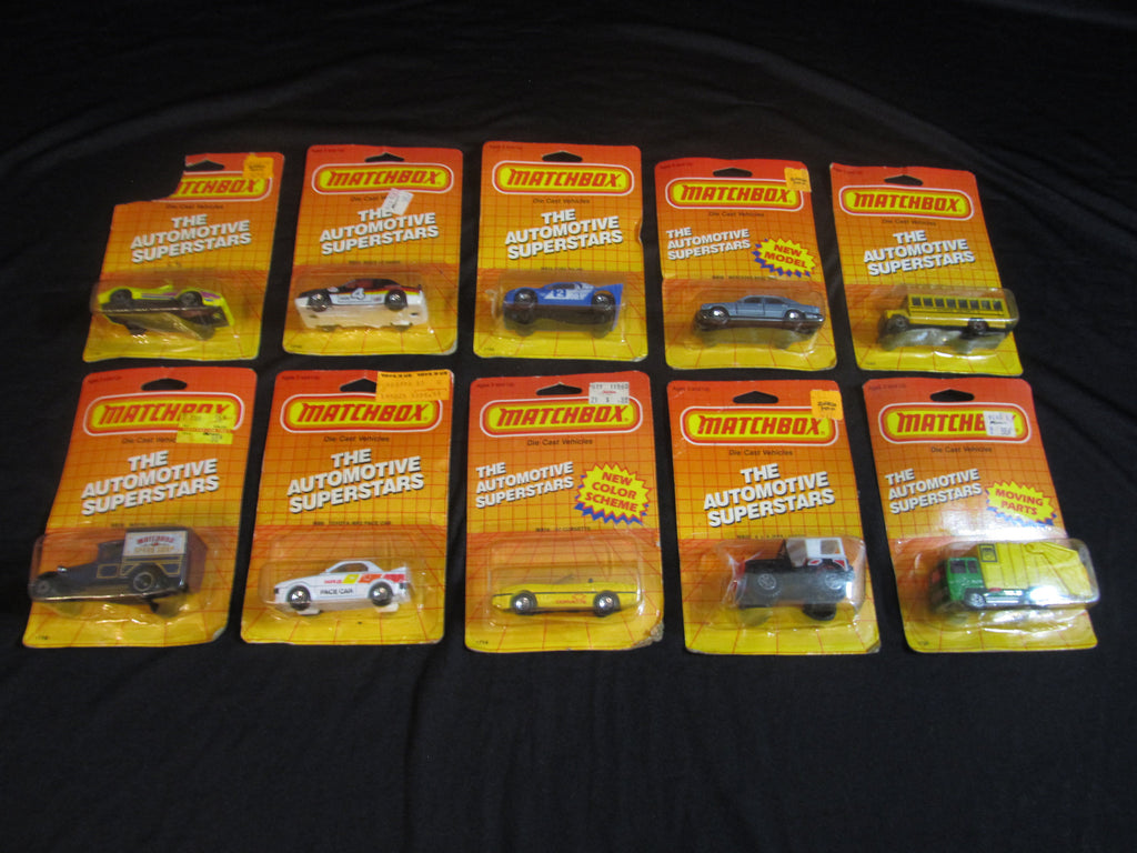 LOT of 10, the Automotive Superstars, Matchbox Cars, Trucks, Vehicles, Diecast Cars, Car Models, FREE Shipping