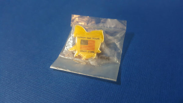 Support Our Troops, Desert Storm, Pin, new in plastic