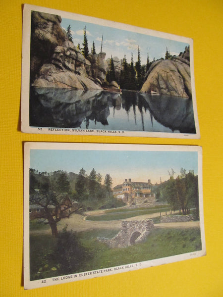 Sylvan Lake & the Lodge in Custer State Park, Black Hills South Dakota, Landscape, Mountains, Postcard, FREE SHIPPING
