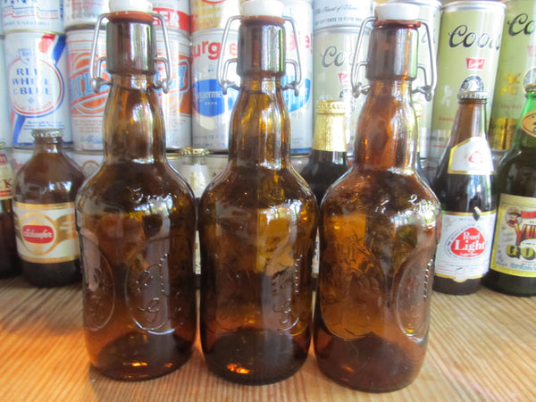Grolsch Lager Beer, Brown Glass Beer Bottles, Vintage Bottles, Beer Decor, Bar Decor, great beer, Holland Beer