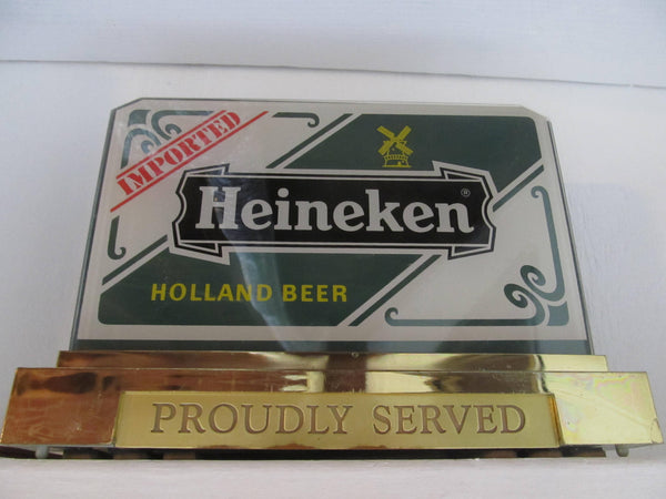 Heineken Light, Electric Sign, Light Up, Beer, Proudly Serving, Bar Decor, Beer Signs, Holland Beer, Man Cave Decor