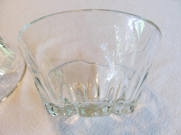 Two Crystal Bowls, vintage dishes, serving, clear