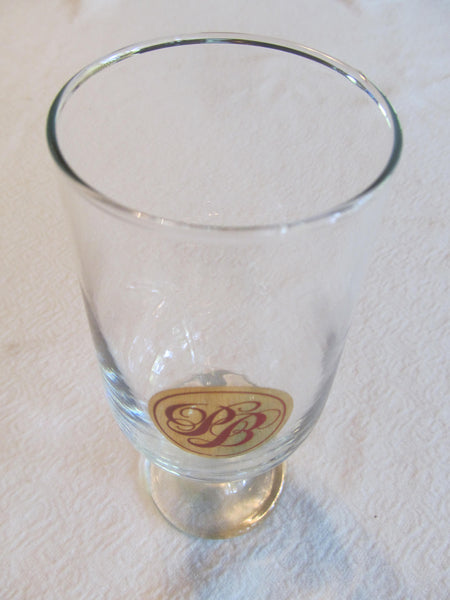 PB clear Glass, Pabst, Beer Glass, Bar Glasses, FREE Shipping