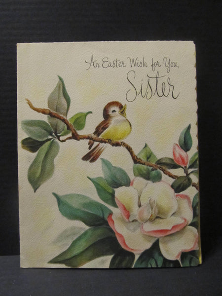 Vintage Hallmark Card, an Easter Wish for you Sister, Greeting Cards, Recycled Cards, Second Use, with Envelope, FREE Shipping