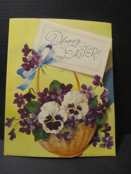 1950's Happy Easter, Rust Craft Artists Guild, a Card of Character, Greeting Cards, Recycled Cards, Second Use, with Envelope, FREE Shipping