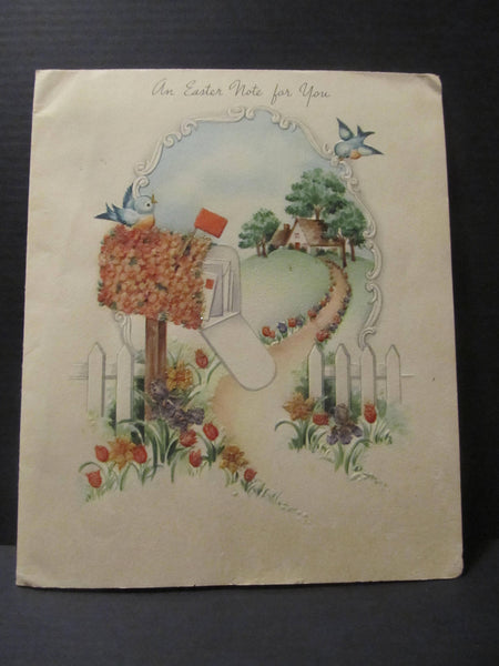 An Easter Note for You, Mail man Card, American Greetings, Greeting Cards, Recycled Cards, Second Use, with Envelope, FREE Shipping