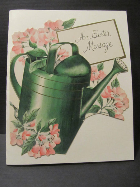 An Easter Message, Garden Watering Can, Great for Gardeners, Easter Holiday Greeting Cards, Recycled Cards, with Envelope, FREE Shipping