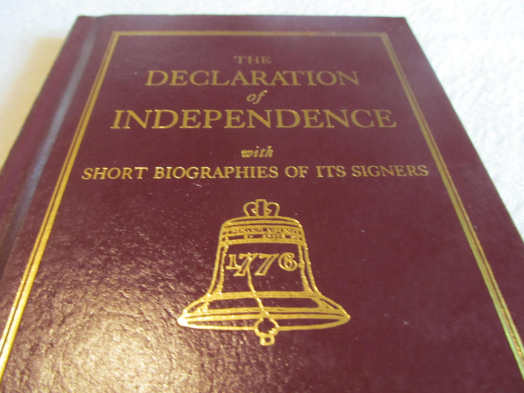 Declaration of Indepence with Short Biographies of its Signers, vintage usa, founding fathers books, divorce humor book, FREE Shipping