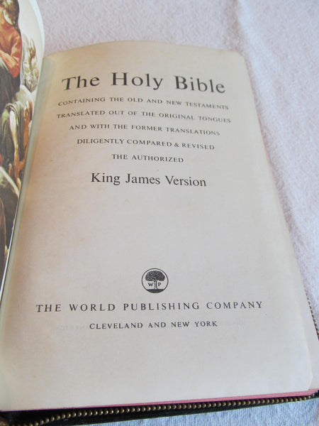Holy Bible Concordance, red letter edition, King James Version, Black Zippered Bible