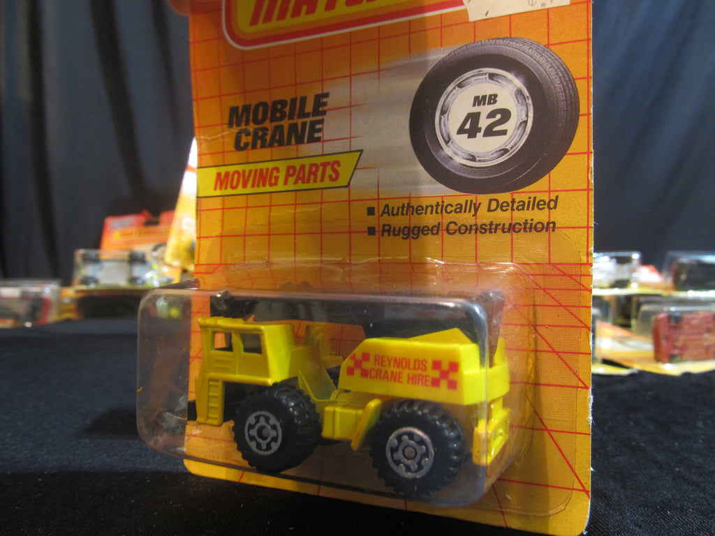 Mobile Crane, MB 42, Moving Parts, Matchbox Cars, Trucks, Vehicles, Diecast Cars, Car Models, FREE Shipping
