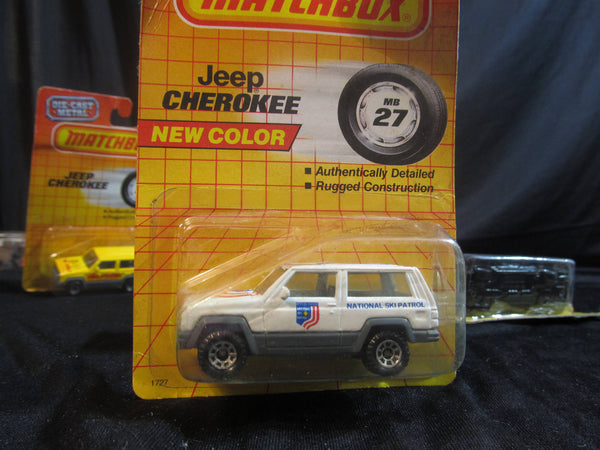 Jeep Cherokee, MB 27, National Ski Patrol, Matchbox Cars, Trucks, Vehicles, Diecast Cars, Car Models, FREE Shipping