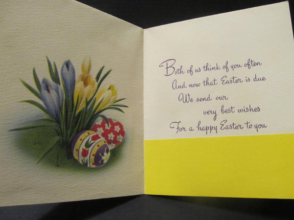 From both of us, Happy Easter, Holiday Greeting Cards, Recycled Cards, Second Use, with Envelope, FREE Shipping