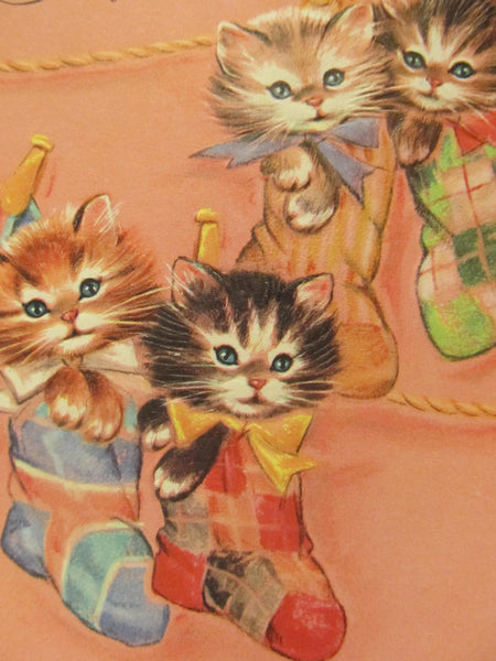 Kittens in Mittens, Sorry You're Sick, Get Well Greeting Cards, Recycled Cards, Second Use, with Envelope, FREE Shipping