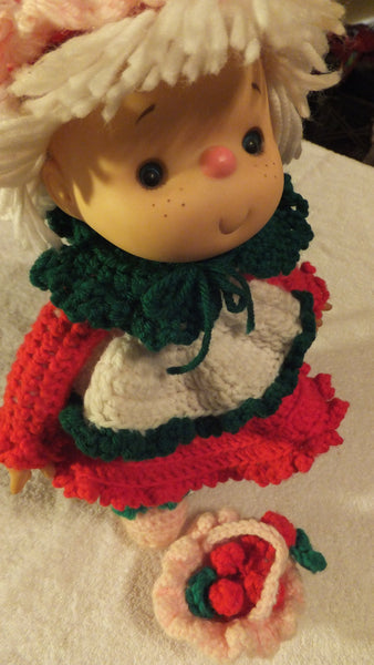 Strawberry Shortcake Crochet Doll - OOAK - FREE SHIPPING