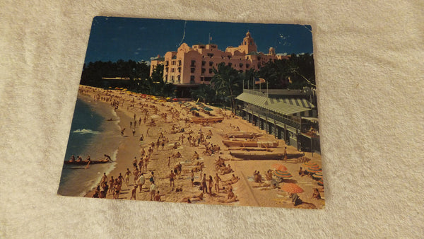 X-Large Vintage Post Card, Waikiki Beach