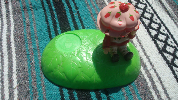 Strawberry Shortcake Toothbrush Cup Holder - Vintage Original, Free Shipping