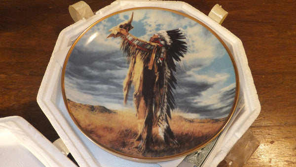 Prayer to the Great Spirit by Paul Calle - The Franklin Mint, Native American Decor, FREE SHIPPING