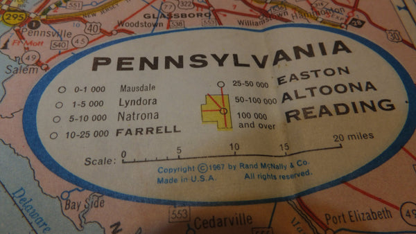 Pennslyvania Map -  American - Vintage