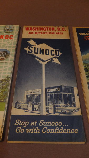 DC, MD, VA Map -  Sunoco - Vintage