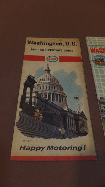 Washington DC Map -  Esso - Vintage 1966, District of Columbia