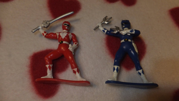 Power Rangers - Vintage Toys - LOT 2 Figures, 4 Rings, FREE Shipping