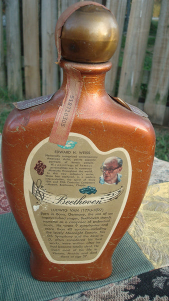 Vintage Liquor Bottle - Beam's Choice - Beethoven - Composer Series