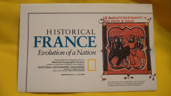 France - National Geographic Map, July 1989, FREE SHIPPING