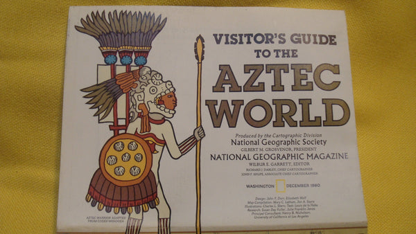 Mexico Aztec World - Vintage Map