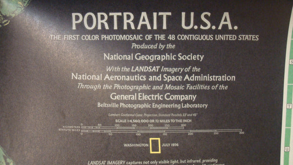 Portrait USA - National Geographic - Vintage Map