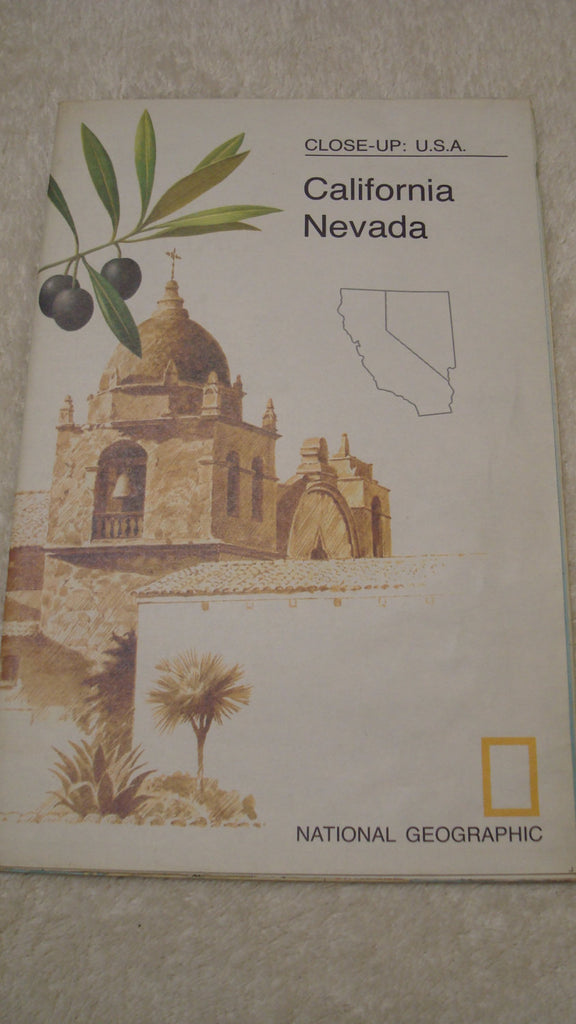 California and Nevada - East - National Geographic - Vintage Map