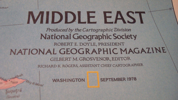 Middle East - National Geographic - Vintage Map