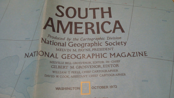 South America - National Geographic - Vintage Map