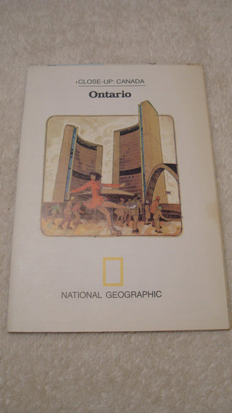 Ontario - National Geographic - Vintage Map, Great Lakes, Upper USA, FREE Shipping