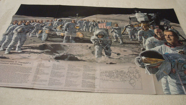 Moon Map - National Geographic - Vintage Map - Astronauts