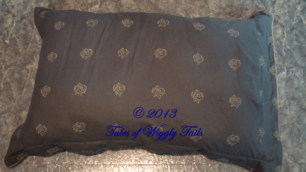Dog or Cat Pillow Bed - Upcycled Pet Bed - REVERSIBLE Double Sided