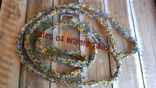 Dog Leash - Handmade Crochet - Yellow and Green - Green Bay Packers - CLIP LEAD