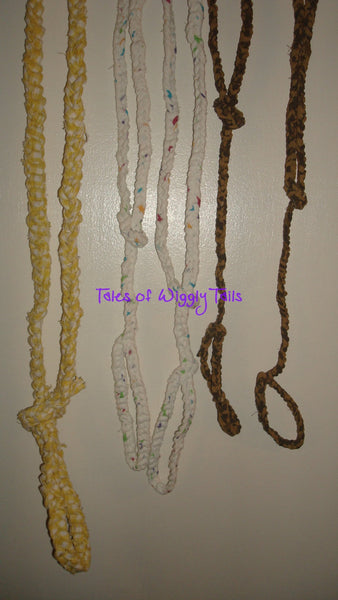 Small Dog Leash - Handmade Crochet - Your Choice in Colors - SLIP LEADS
