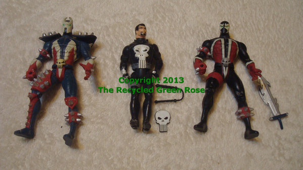 Marvel Vintage Figurines - Toys - Cartoon Characters - Comic Book Characters - LOT OF THREE, Free Shipping