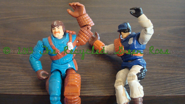 GI JOE / COPS Vintage Figurines - Toys - Cartoon Characters - Comic Book Characters - Lot of Three Characters, Free Shipping